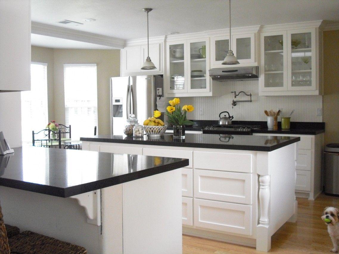 Wonderful Ideas Of Glossy White Kitchen Cabinets On Laminate ...