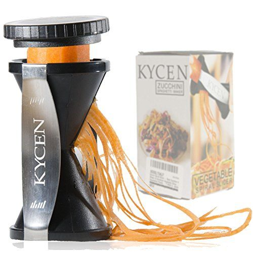 Spiral Slicer Spiralizer, Vegetable Spiralizer, Recipes and Ebooks, Zucchini & Vegetable Pasta Maker Kycen