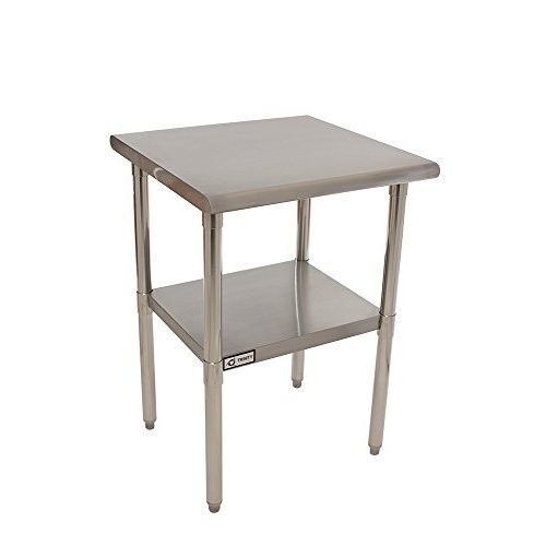 Stainless Steel Table 24 Inch Top Work Kitchen Island Prep Bench Counter Food Trinity Stainless Steel Table Stainless Steel Prep Table Adjustable Shelving