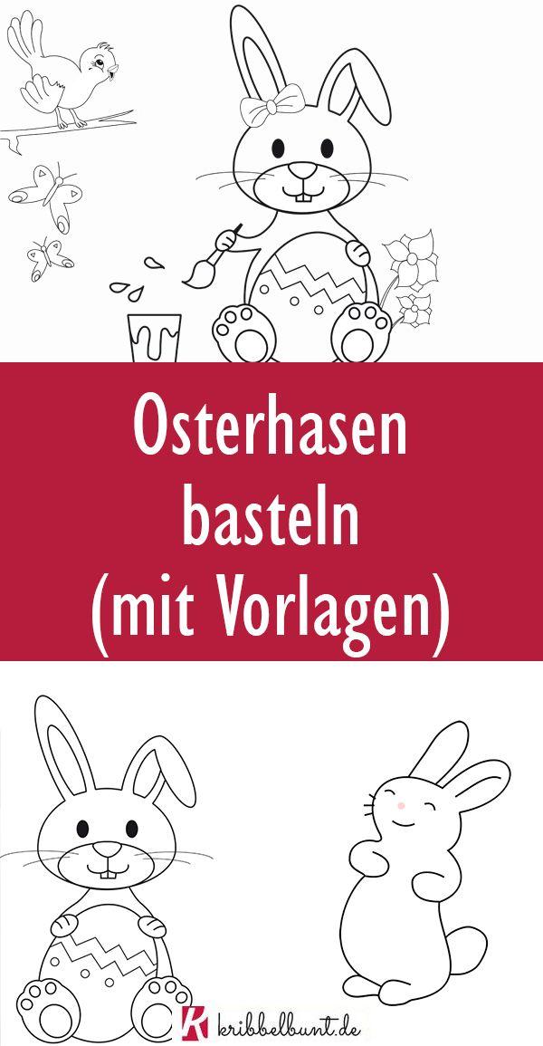 Hase Vorlage - Osterhase Vorlage » PDF zum Ausdrucken in ...