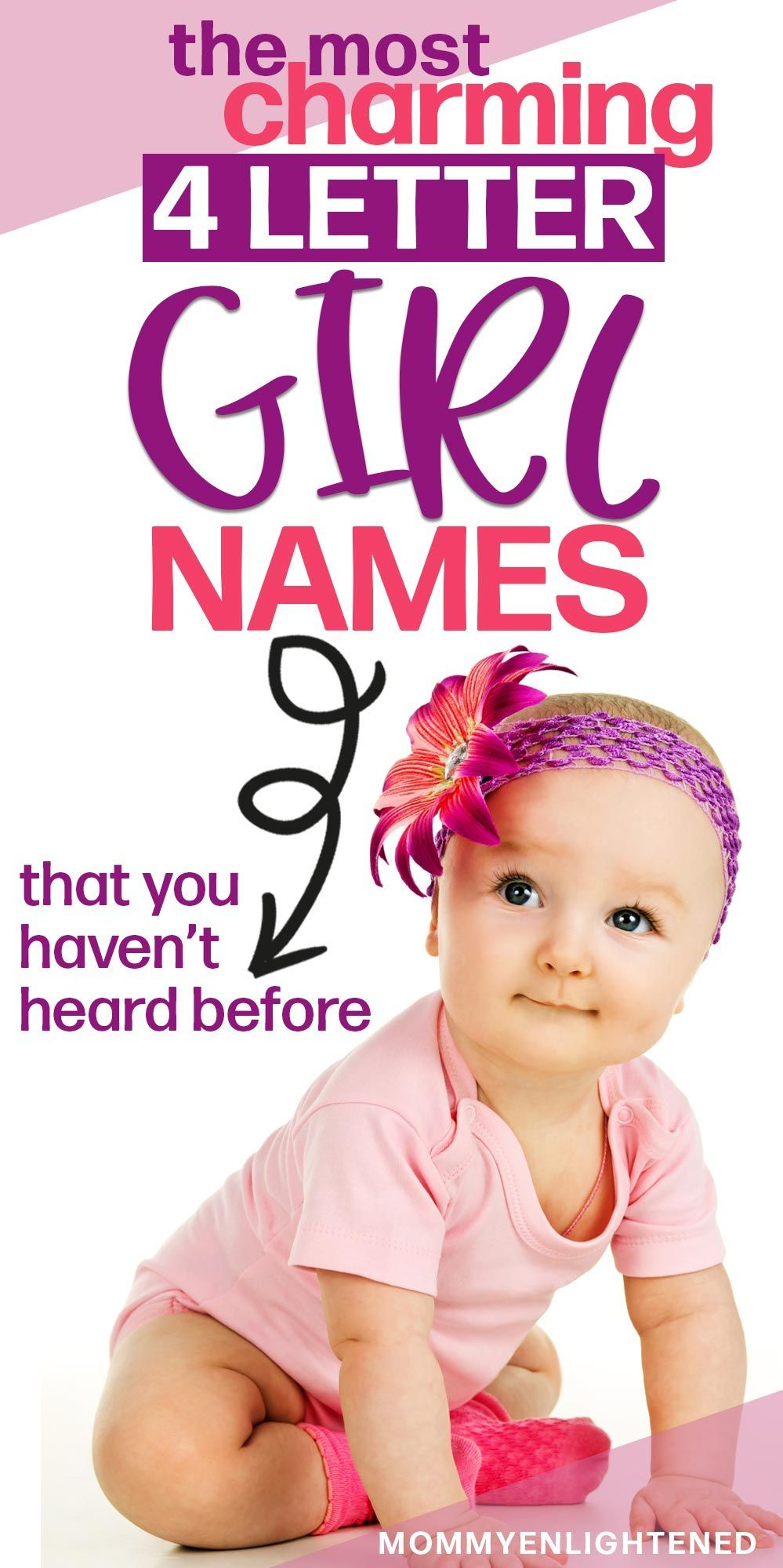 Adorable 4 Letter Girl Names (+ meanings and origins
