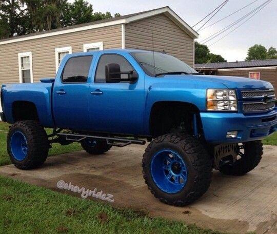 love the blue | trucks, big chevy trucks, chevy trucks  pinterest