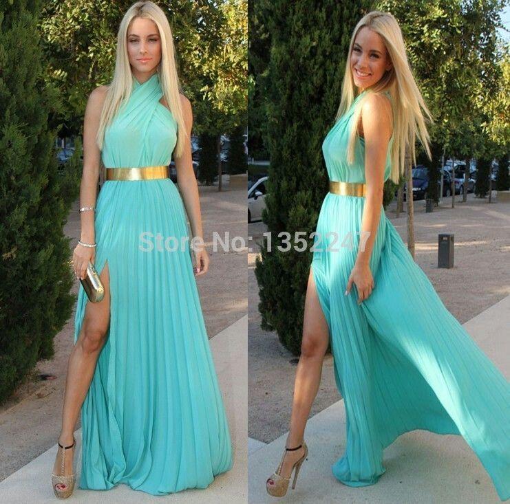 Fabuloso Vestido Azul Turquesa Vestidos Azules Turquesa