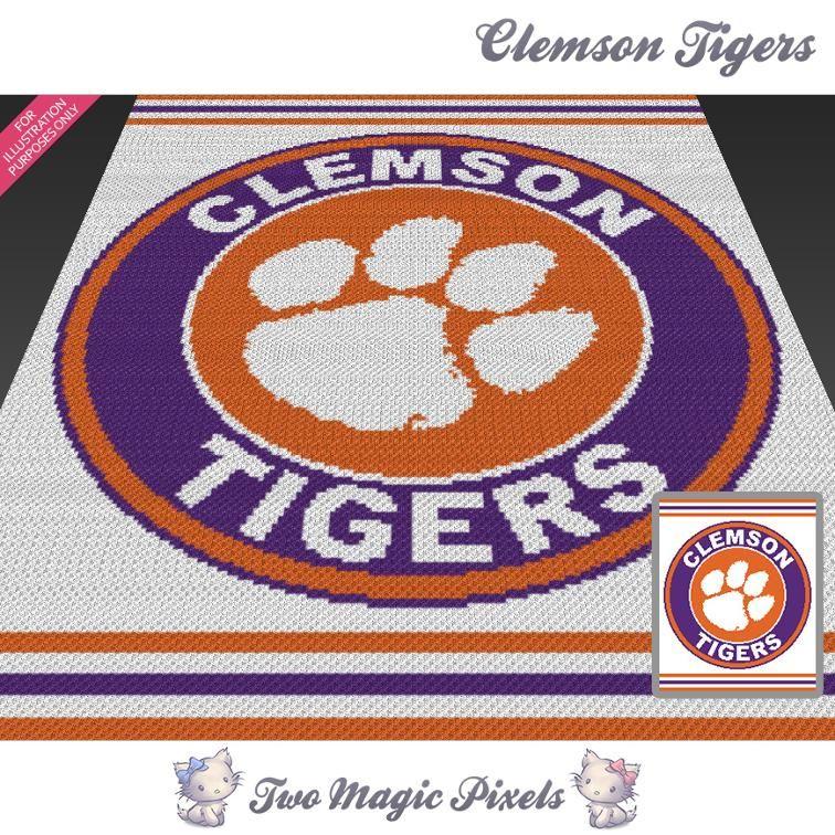 Clemson Tigers Crochet Graph