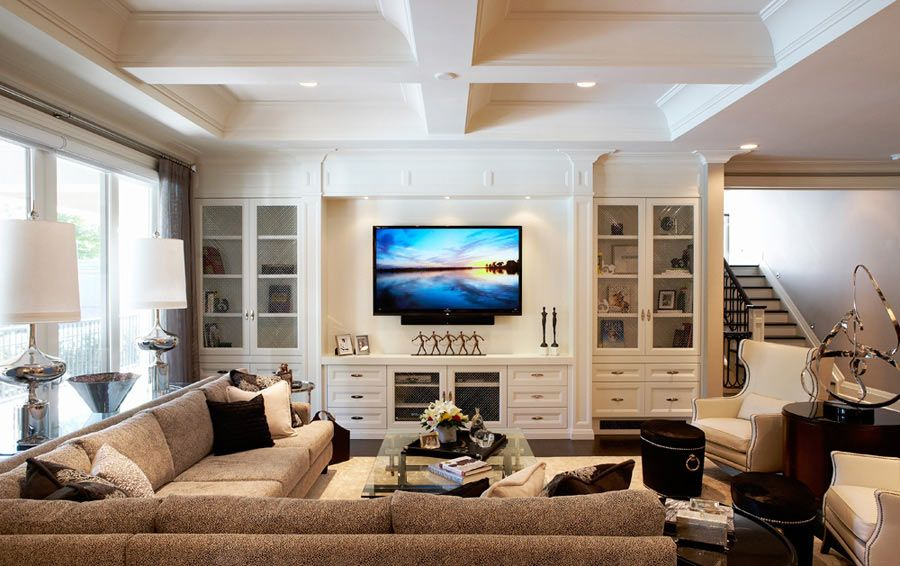 Wall Unit Built In To Family Room