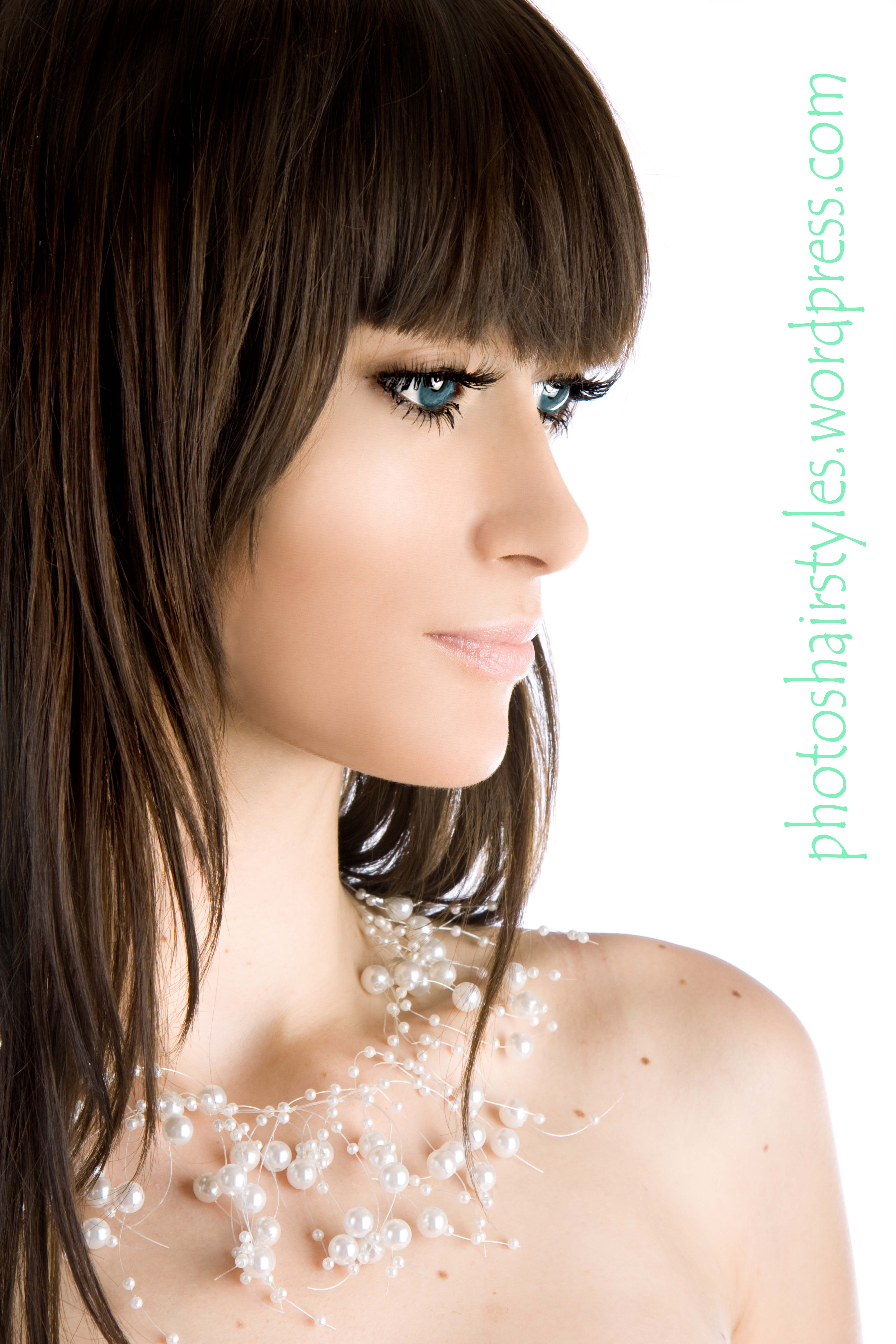 long bang hairstyle trends women | front bangs, bang hairstyles