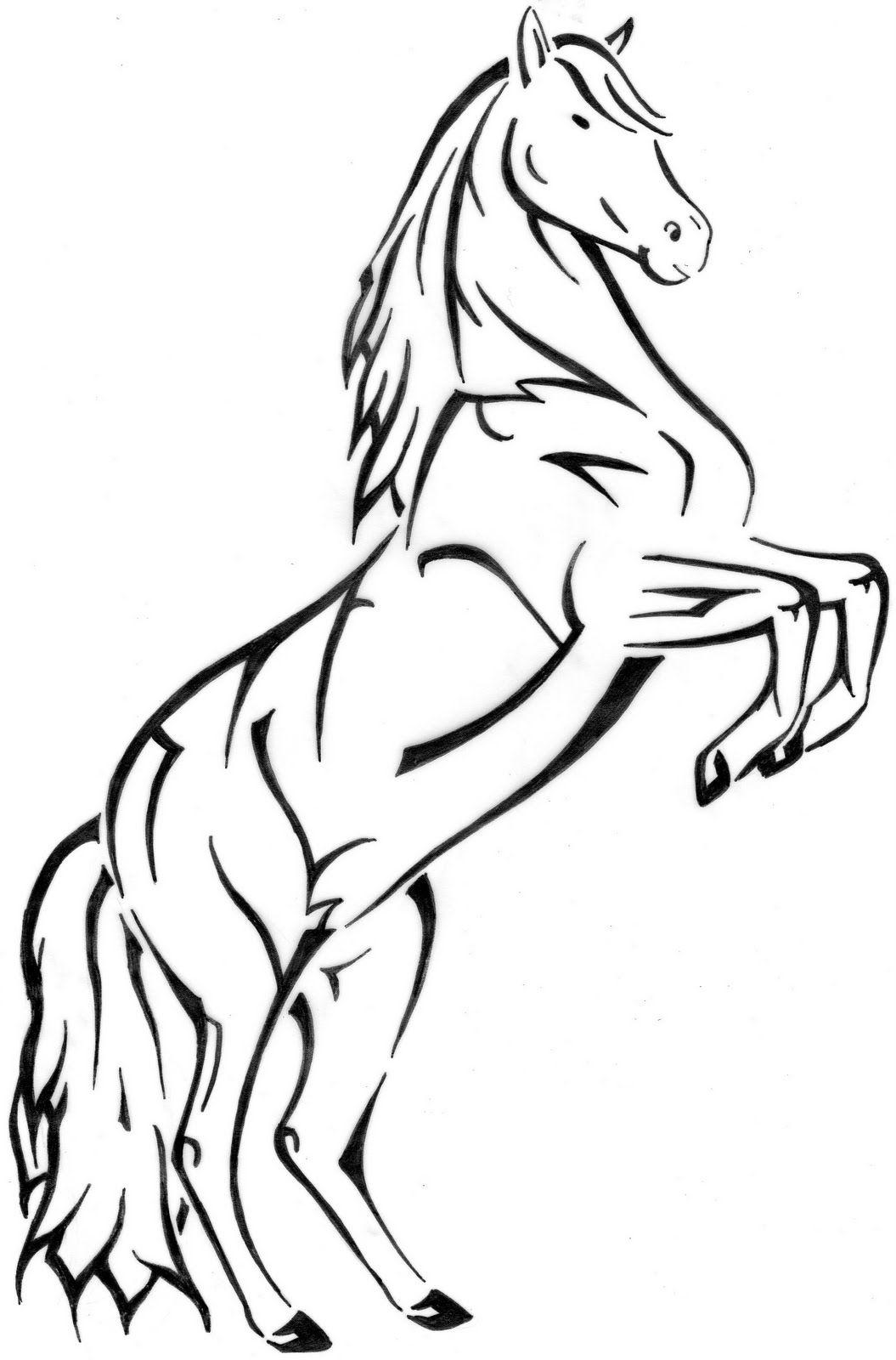 R sultat de recherche d 39 images pour dessin cheval qui - Cheval qui saute dessin ...