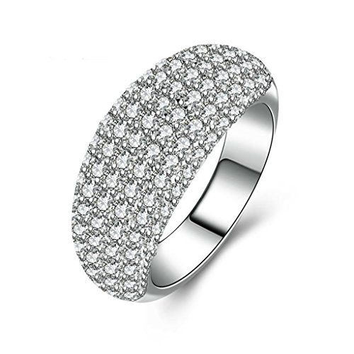 3c4ac4efd27f4 AmDxD Jewelry Silver Plated Women Customizable Rings Arched Cubic ...