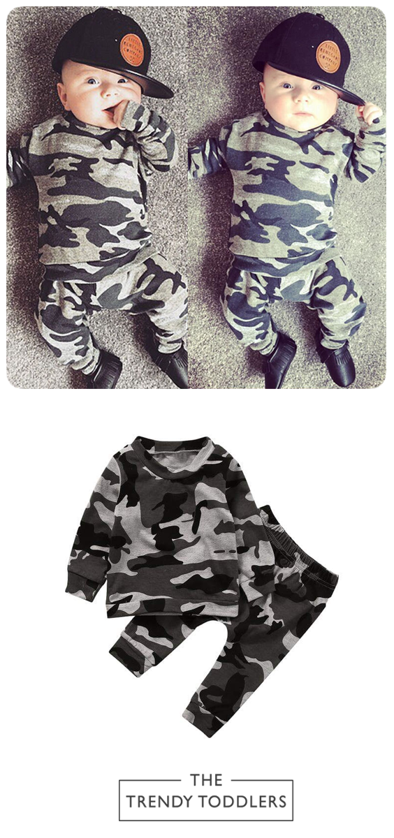 681ca4453 Camouflage Set | The Trendy Toddlers collection | Baby boy fashion ...
