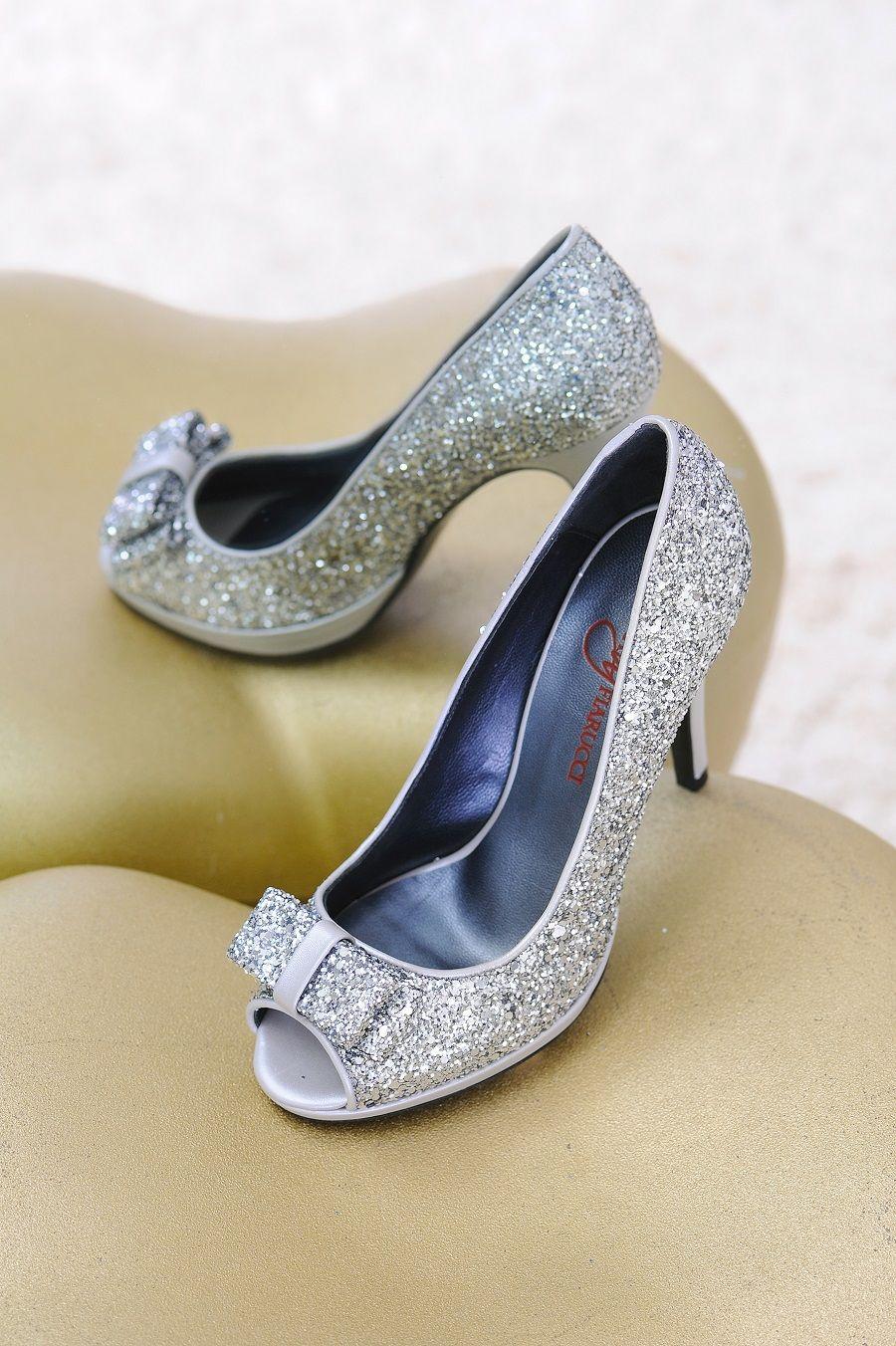 Brautschuhe glitter