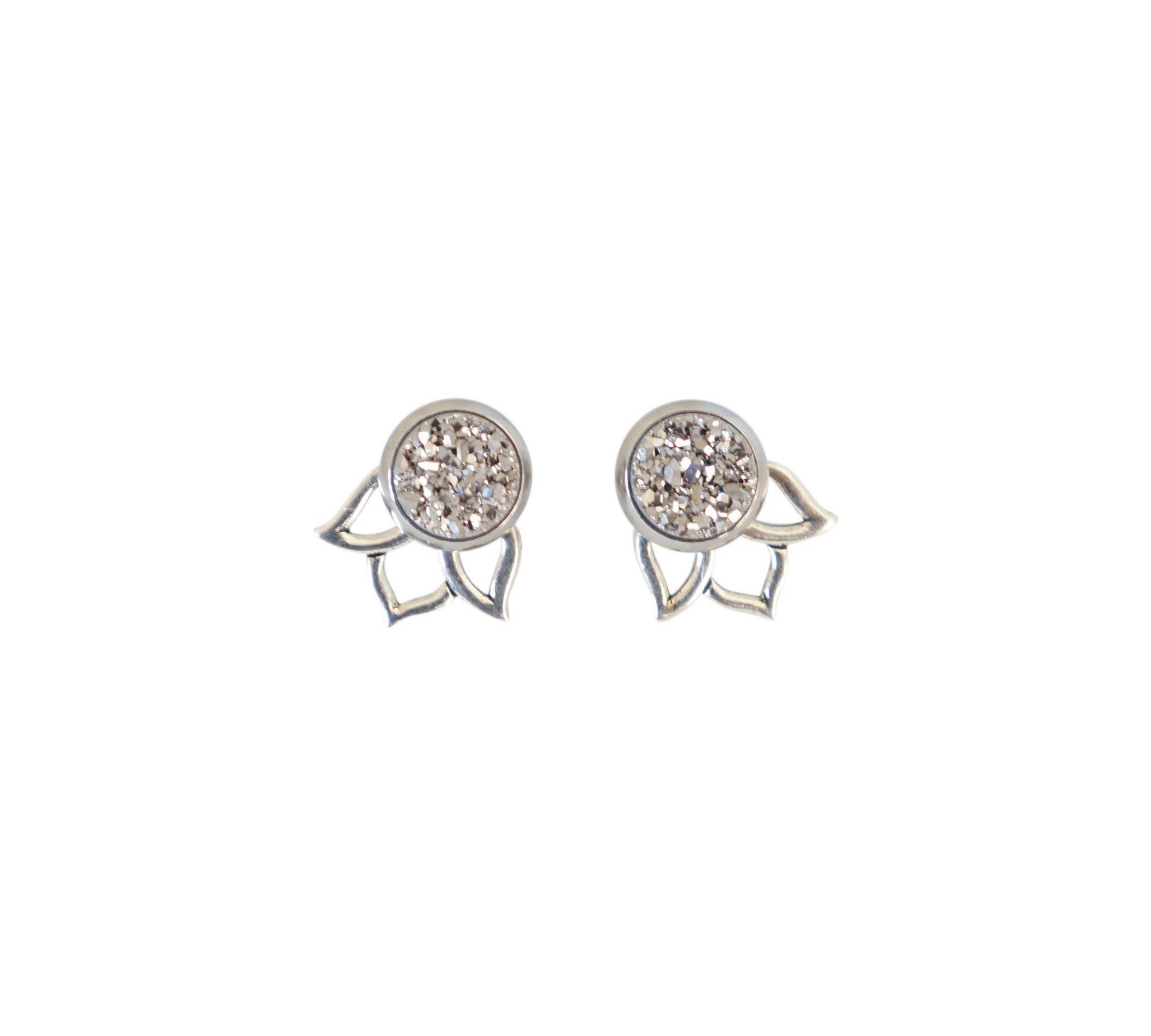 Round Diamond Trio Earrings