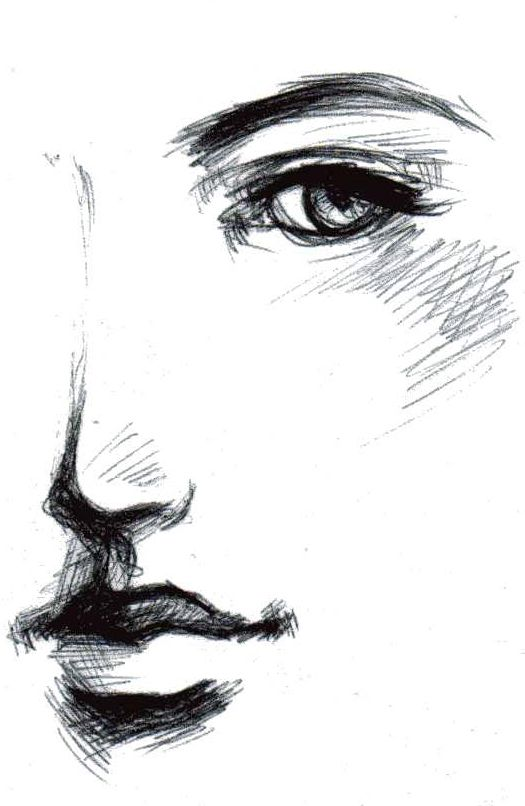Pin by Brandy Jones on Inspiration | Drawings, Face sketch ...