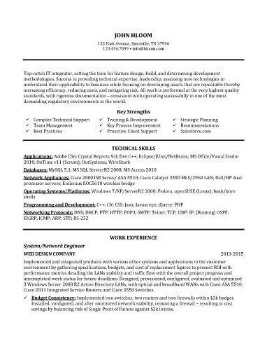 Technical Support Representative Resume Sample resume - sample technical resumes