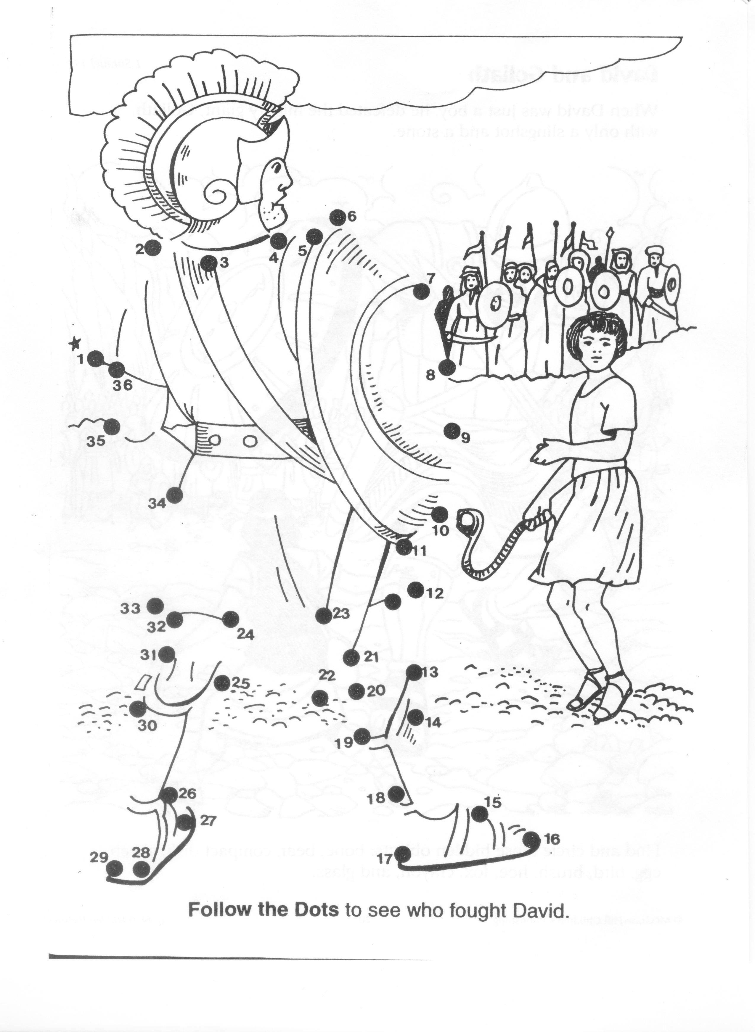 David And Goliath Coloring Pages Beautiful Tanesinclair