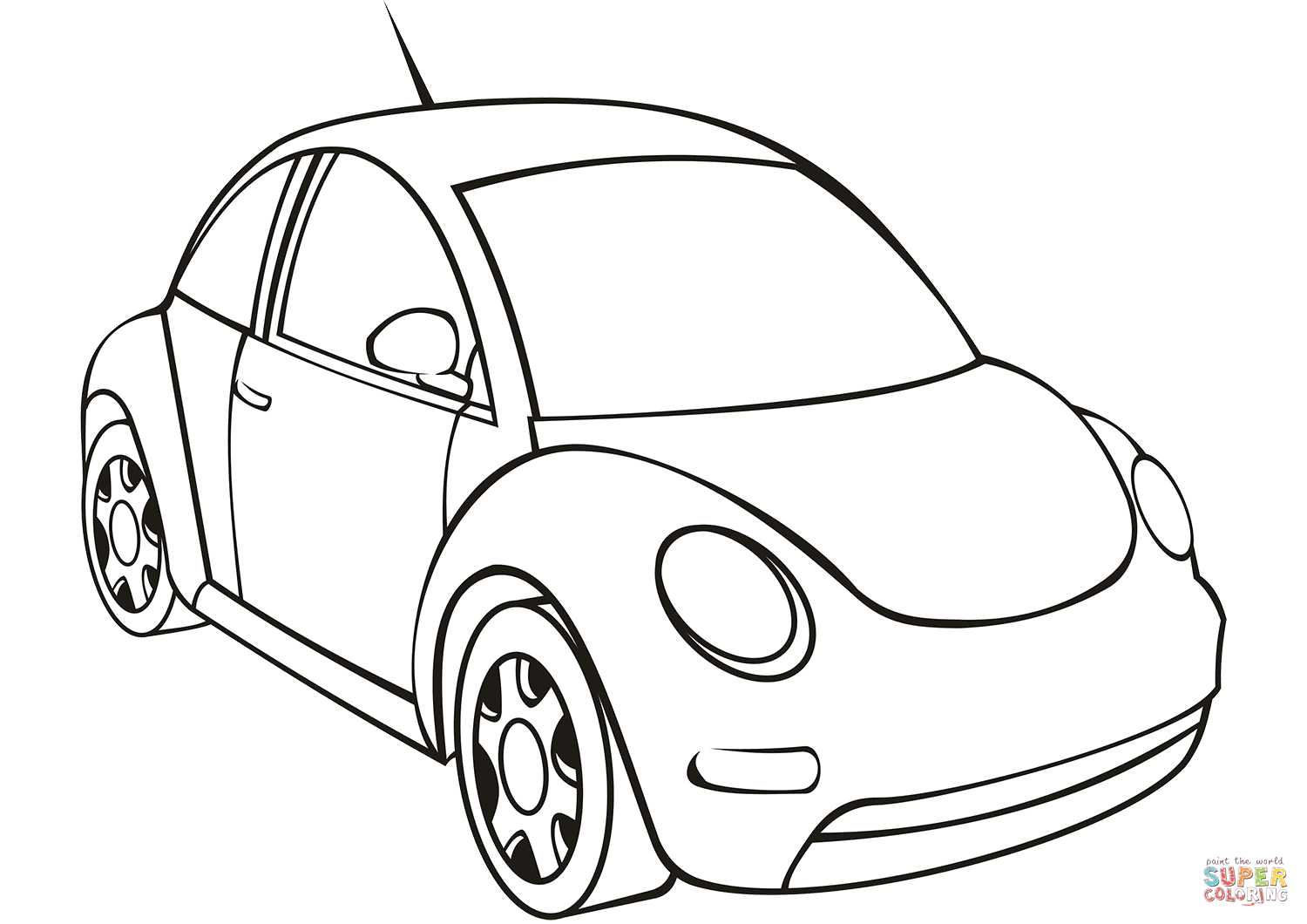 Vw Beetle Coloring Page Free Printable Coloring Pages Cars Coloring Pages Beetle Drawing Coloring Pages