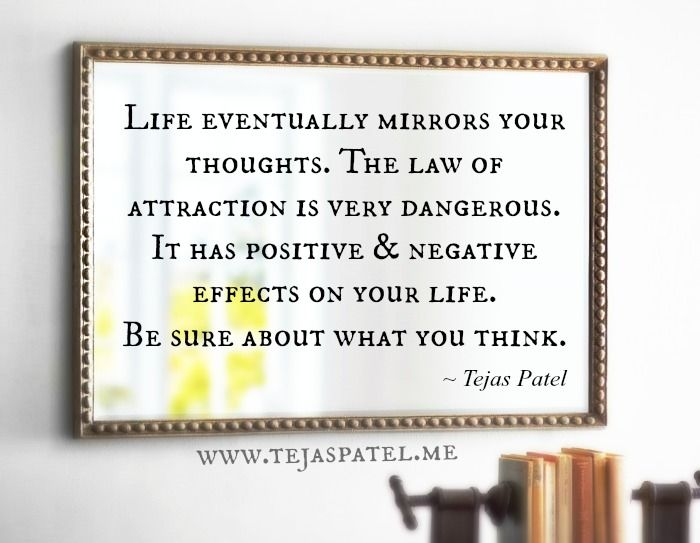 Law attraction your mirror