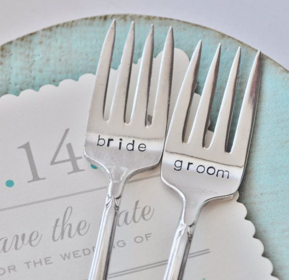 Silverware Wedding Gifts: These Personalized Vintage Wedding Forks Make The Perfect