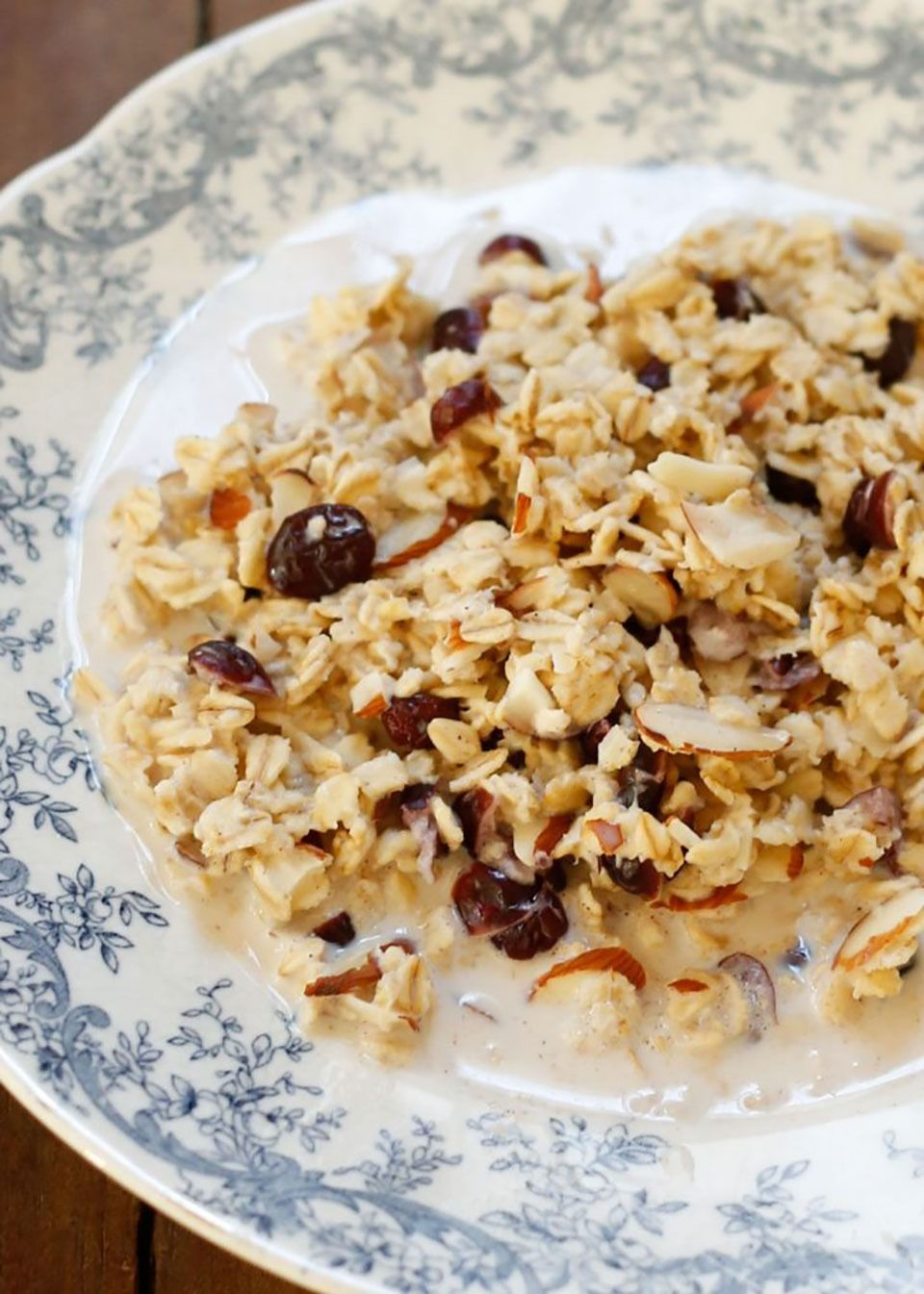Slow Cooker Crandberry Almond Oatmeal - Cranberries don't get enough attention, aside from treating the occasional UTI. The tiny crimson beads improve oral health, reduce the risk for cardiovascular disease, increase immunity, and even fend off cancer.  Get the recipe from Barefeet In The Kitchen.