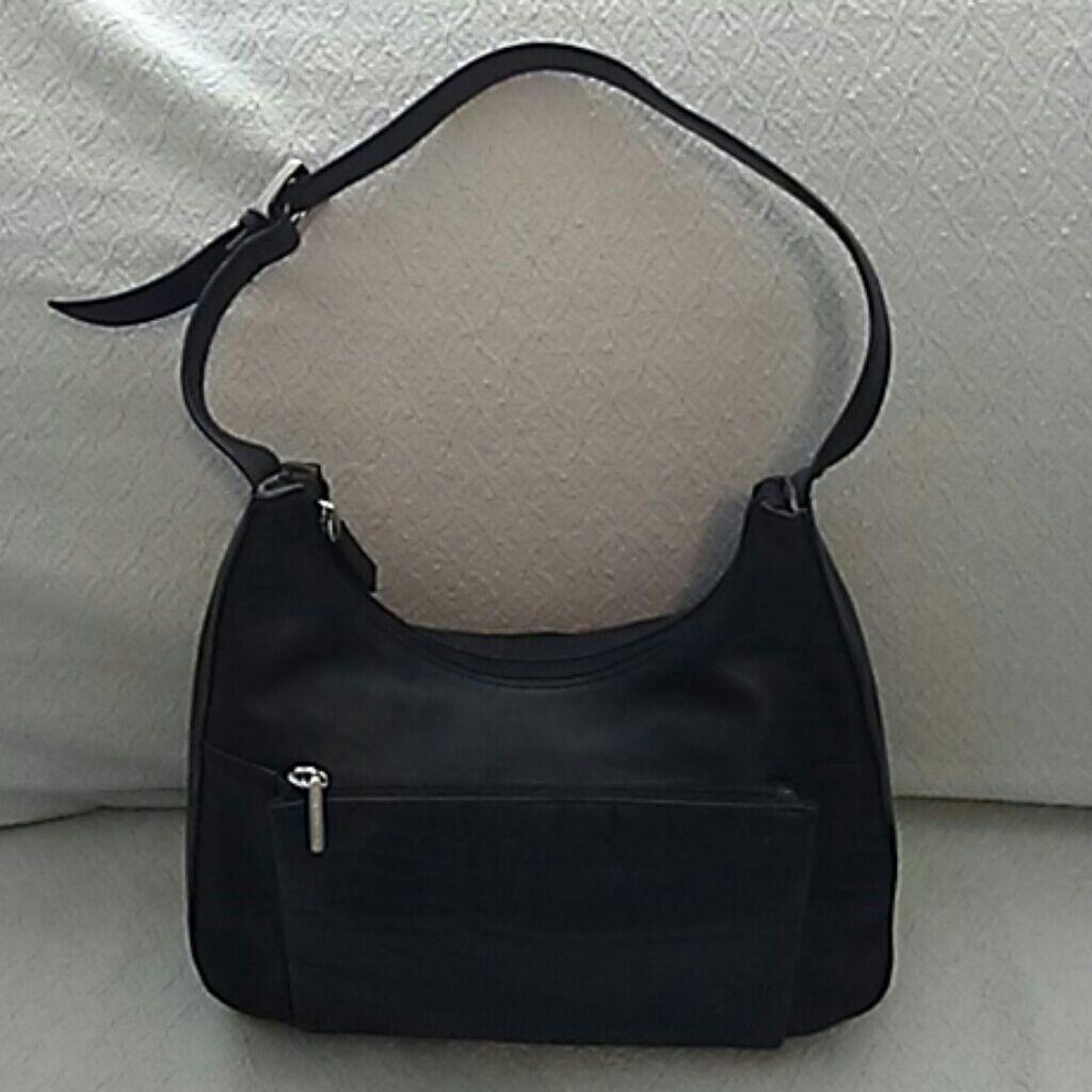 Stone Mountain Black Leather Bag