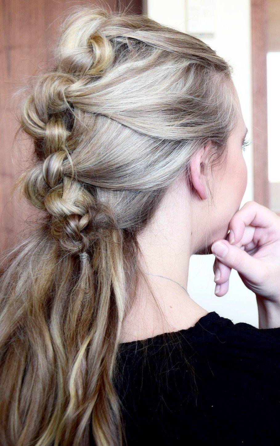 halfup messy knot braid - braids.life | geknoteter zopf