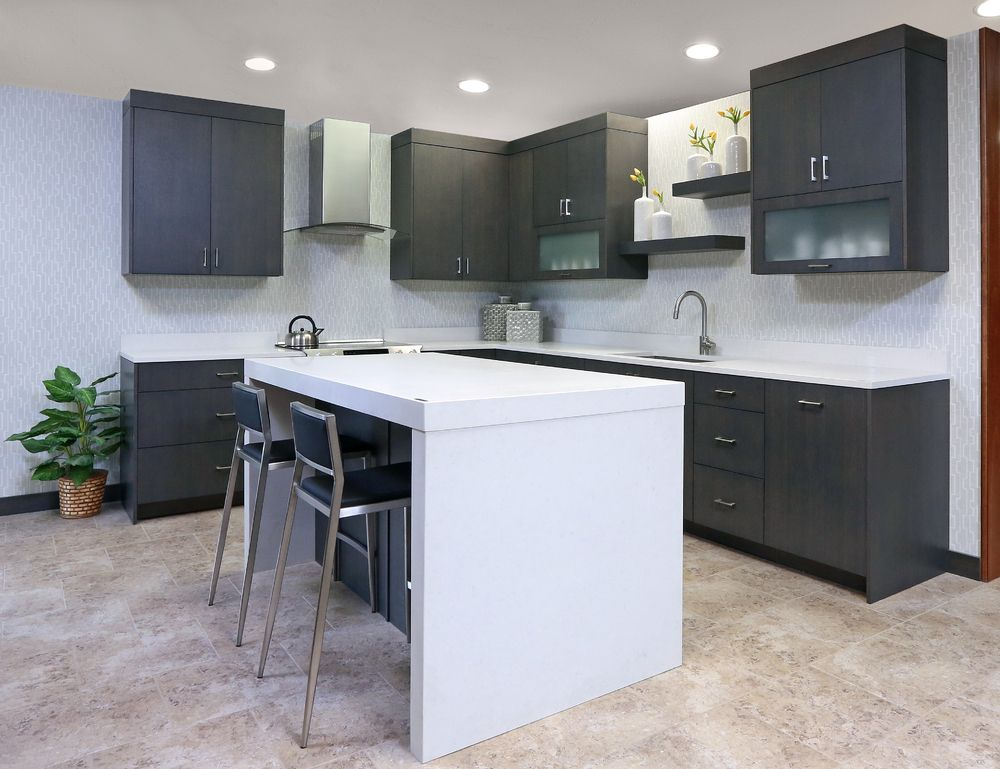 custom cabinetry; kitchen cabinets; rift sawn white oak ...