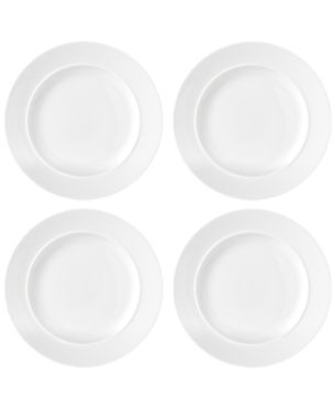 Dansk Cafe Blanc Dinner Plates Set Of 4 White Dinnerware