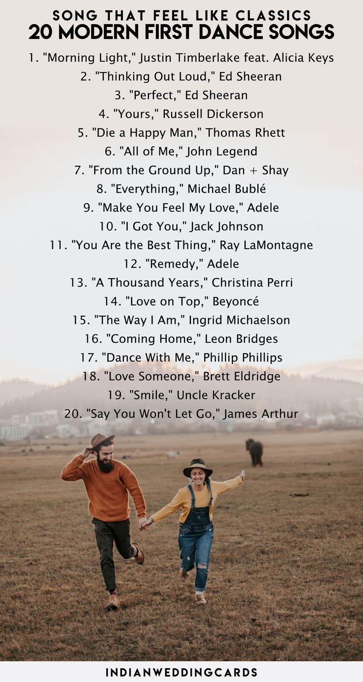 Songs That Feel Like Classics 20 Modern First Dance Songs That You Will Defin 2020 Https Lustige Hochzeitslieder Hochzeit Tanz Lieder Musik Hochzeit