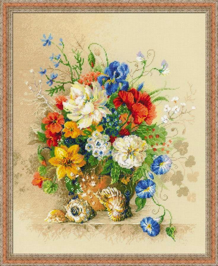 Схемы вышивок крестом цветы риолис