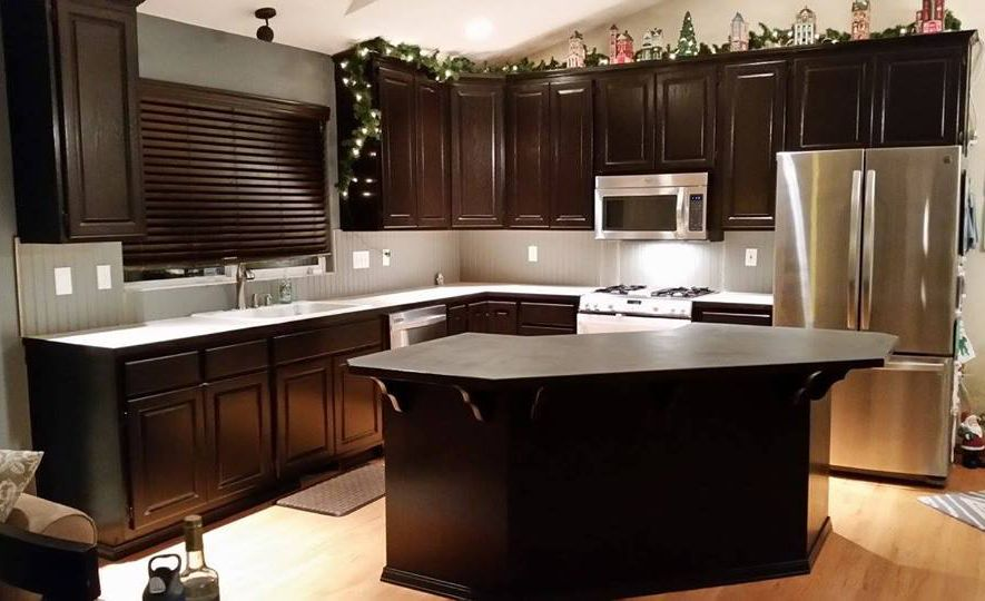 Mybell Boutique Used Java Gel Stain For These Kitchen Cabinets And Island