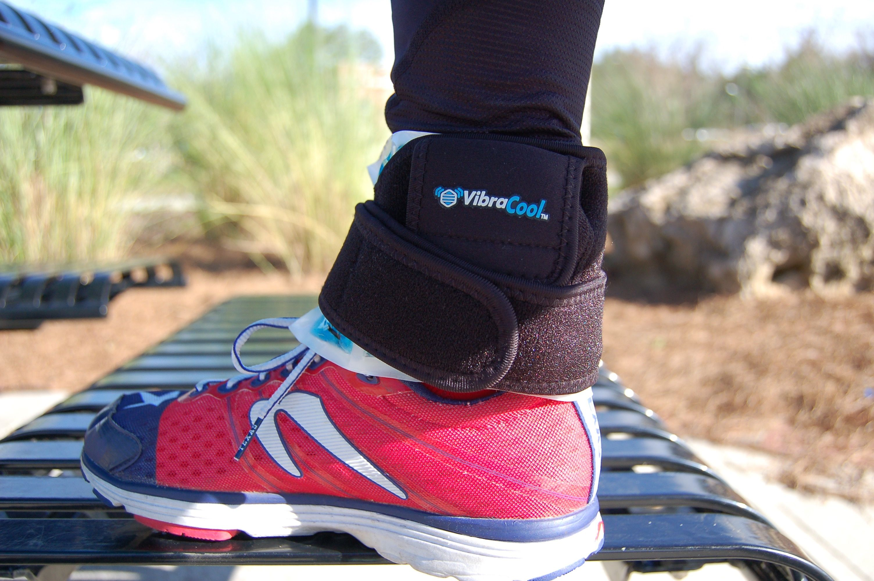 Sore ankles? VibraCool can offer simple, serious, drug free pain relief.