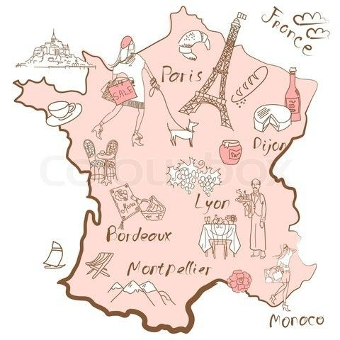 Map Of France Carte De France Www Totem Info Com Paris