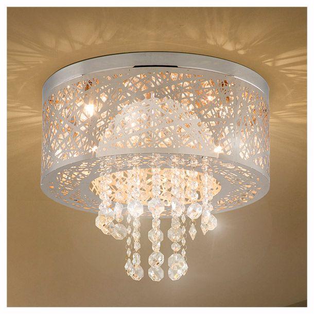 lámpara de techo de 5 luces, acabado de acero inoxidable, pantalla