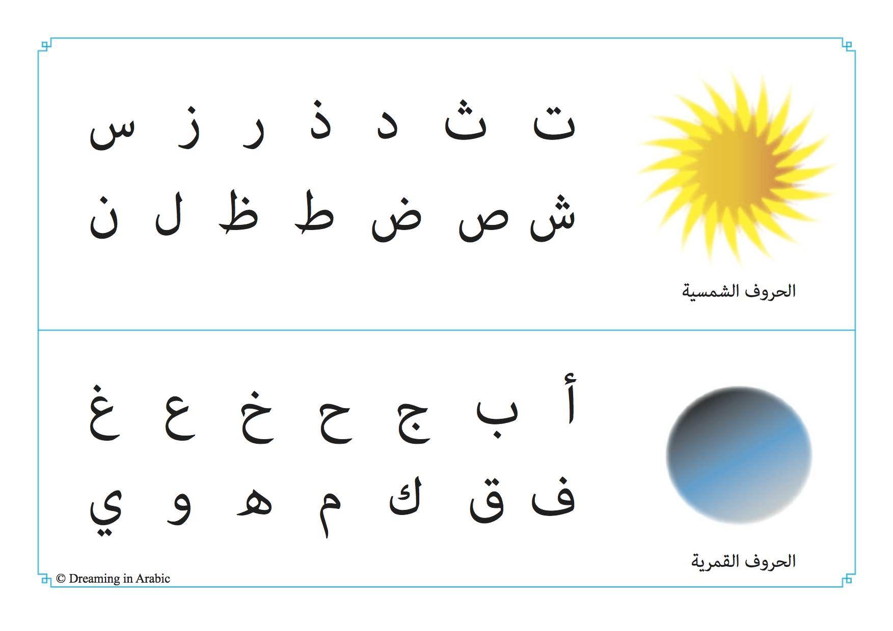 Arabic Sun Moon Letters