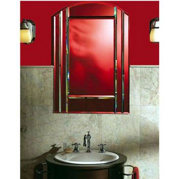The Expressions Le Baccarat Clear Mirror Arch Top Medicine Cabinet