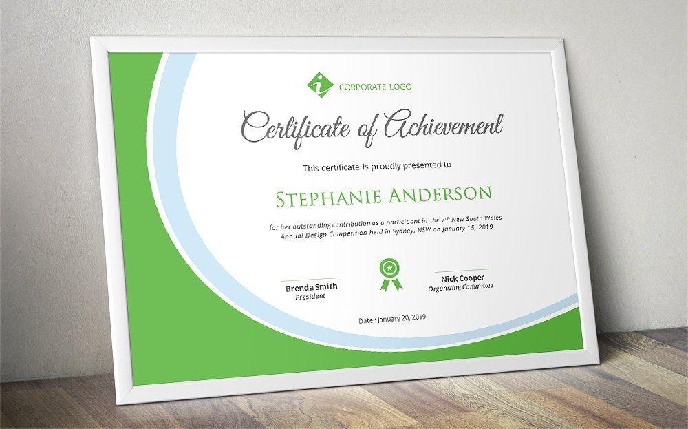 Elegant certificate template (docx) Certificate