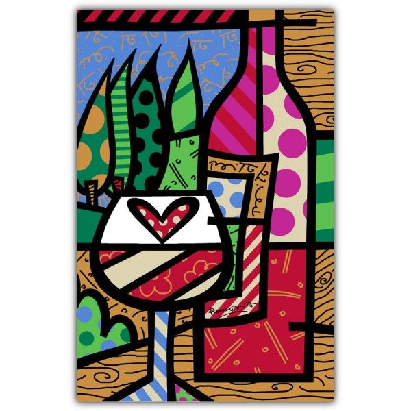 PAMESA BY BRITTO | WINE | CERAMIC Pamesa by BRITTO is an exclusive line of ceramic tiles featuring the vibrant and colorful illustrations of world renowned artist Romero Britto. BRITTO Wine available in 34 CM by 50 CM tiles. #ParmesaByBritto #Britto #MOTW