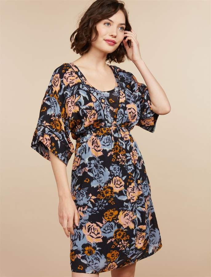 b7ad2ad71e4 Motherhood Maternity Floral Side Access Nursing Dress in 2019