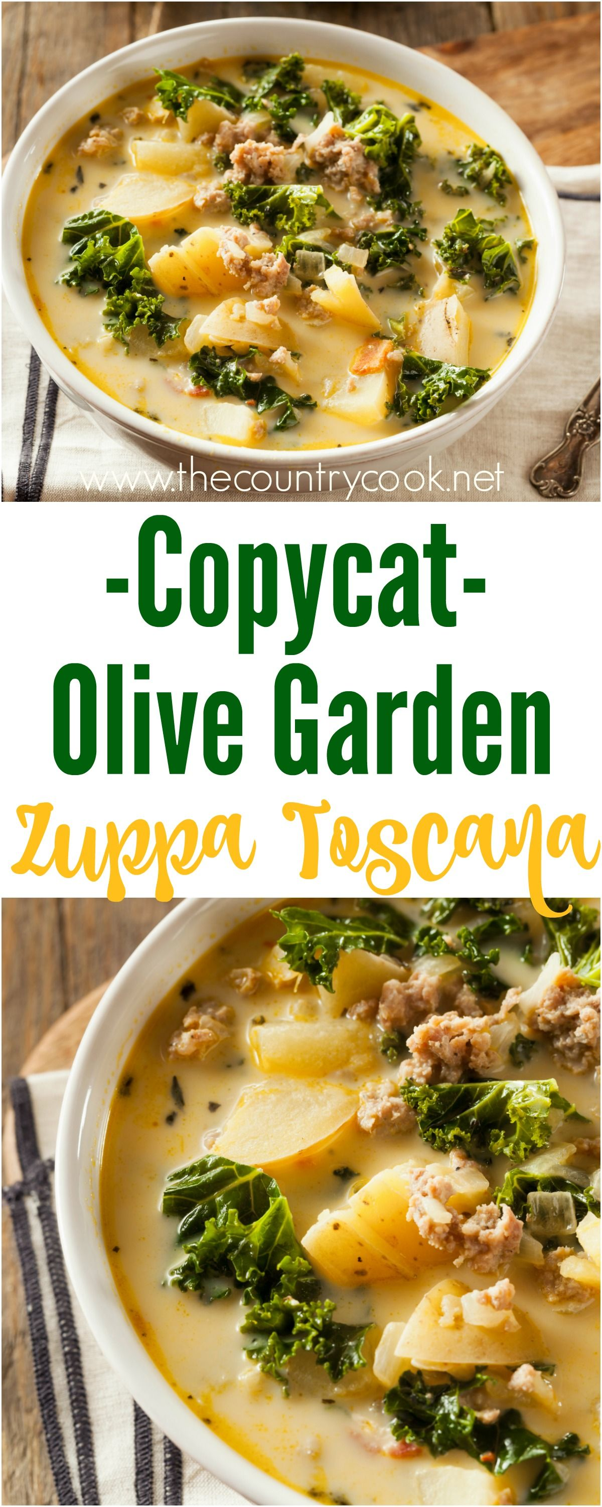 OLIVE GARDEN ZUPPA TOSCANA (+Video) | The Country Cook