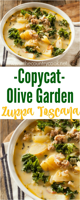 Olive Garden Zuppa Toscana Recipe Toscana Recipe Vegetarian