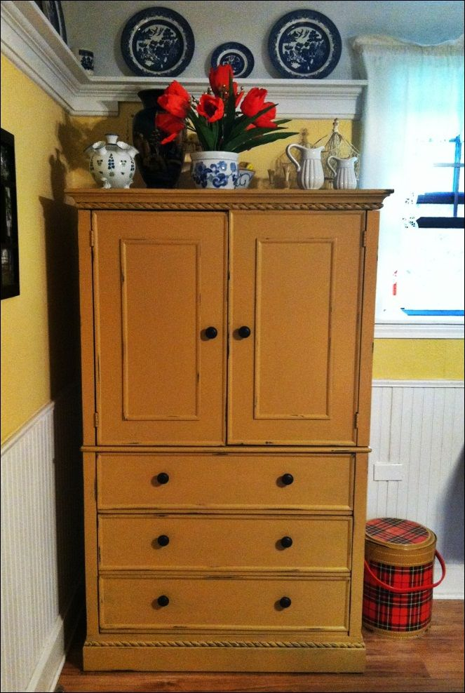 armoire turned sewing cabinet sewing rooms rh nl pinterest com Horn Sewing Cabinets with Lift Martha Stewart Craft Cabinet