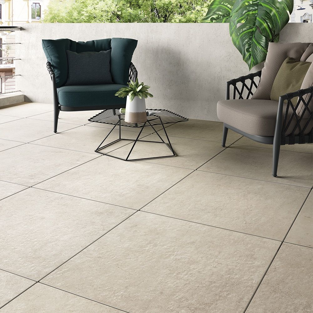 Carrelage Epaisseur 2cm Sol Effet Pierre 60x60 Tortora Naturel Rectifie Collection Glam Century Avec Images Terrasse Carrelage Sur Plot Meuble Carrelage
