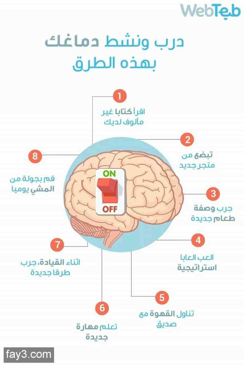 طرق لتنشيط الدماغ انفوجرافيك انفوجرافيك عربي Life Skills Activities Life Skills Learning Websites