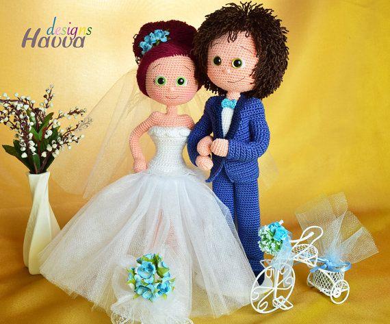 patrÓn novia y el novio ganchillo amigurumi | amigurumis