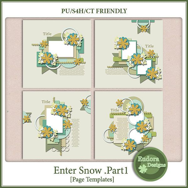 Enter Snow Part1 :: Templates :: Memory Scraps