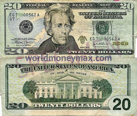 Worldmoneymax Com Usa 20 Dollar 2004 Banknote United States Of