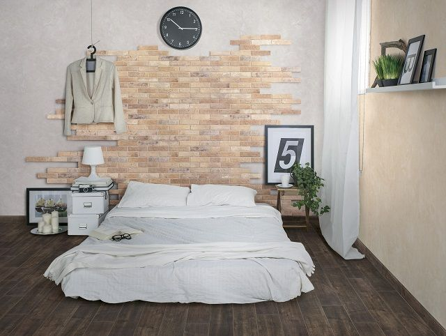 the julian tile brick collection a glazed colour body porcelain tile that can be installed on walls and floors - Porcelain Tile Bedroom Interior