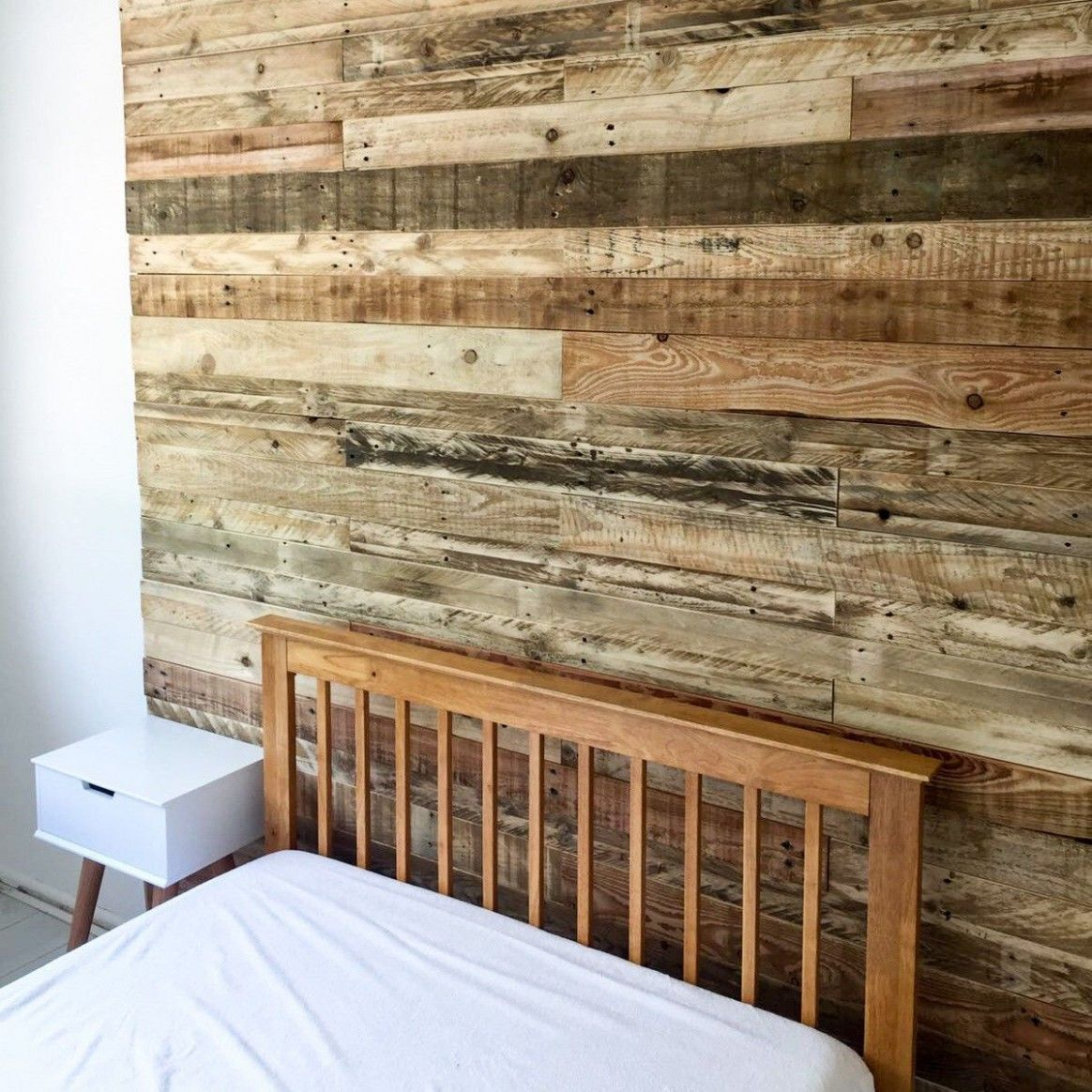 Bedroom Wood Accent Wall Ebay in 11  Wood pallet wall, Wood