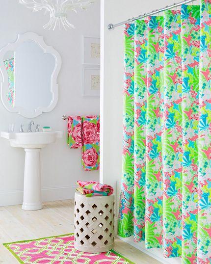 Lilly Pulitzer Sister Florals Shower Curtain Garnet Hill Girls