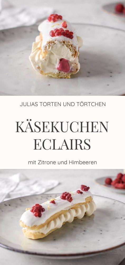 Käsekuchen Eclairs mit Himbeer und Zitrone | Delectable ...