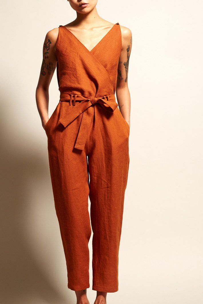 4641cf51ff99 No.6 Taylor Jumpsuit in Sienna Linen